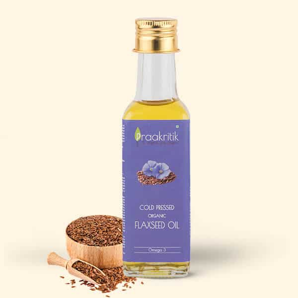 Organic Cold Pressed Flaxseed Oil - 100ml